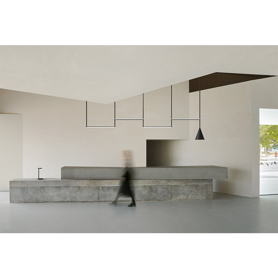Infra-Structure Episode 2 Suspension Lamp in Matt Black