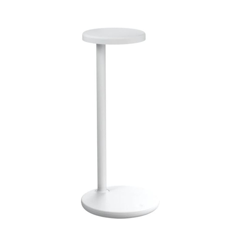 Oblique QI Table Lamp In Matt White