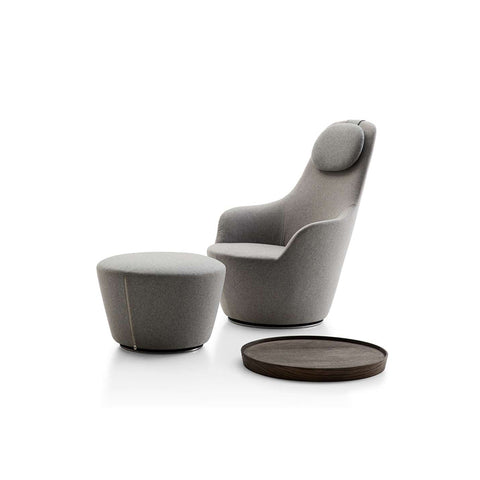 Harbor HA80A+HA_P Armchair With Headrest in Adria 2521570