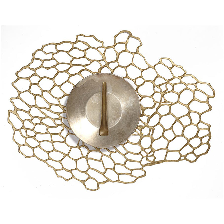 Sea Lace Oval Placemat in Brass