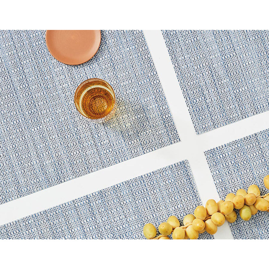 Thatch Rectangle Placemat in Rain