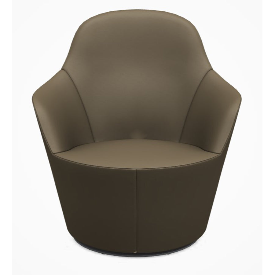 Harbor HA80B Armchair Swivel armchair with low back in Gamma 410 Leather