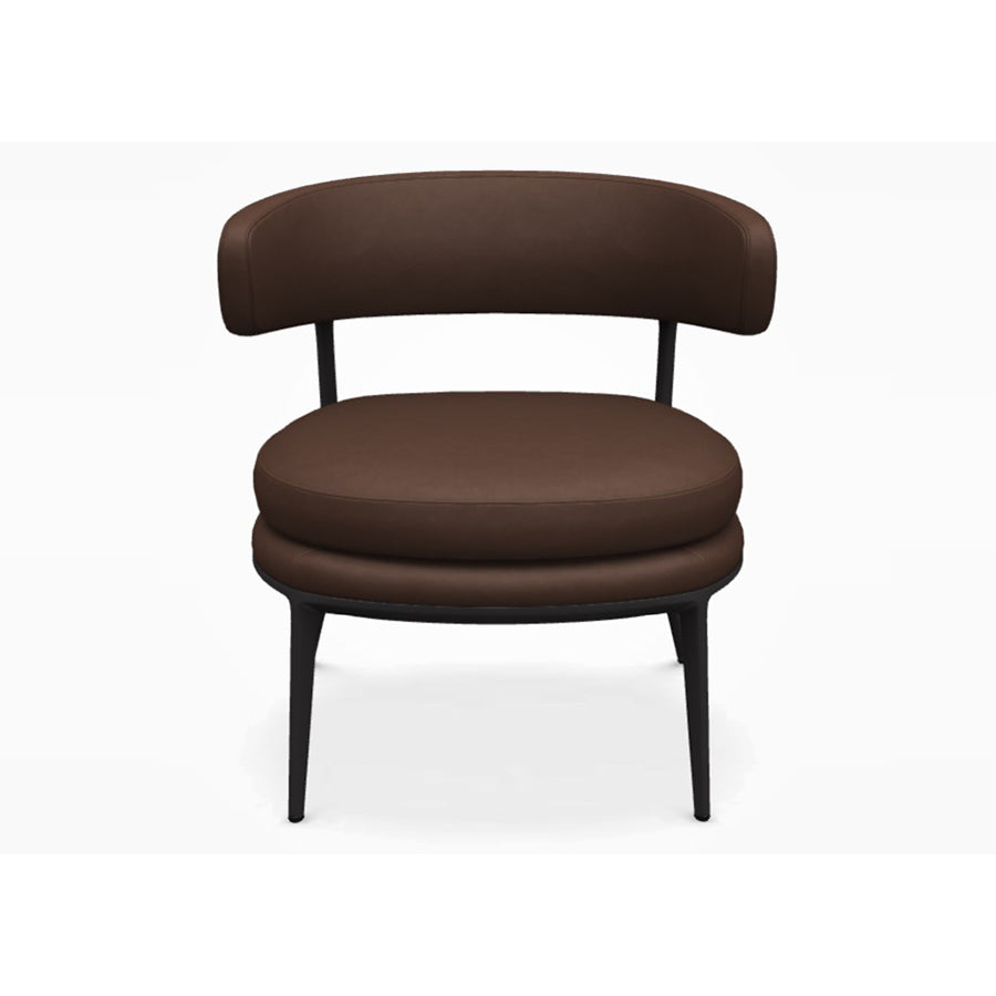 Caratos SCA69 Armchair in Graphite Painted Frame and Kasia 360 Leather
