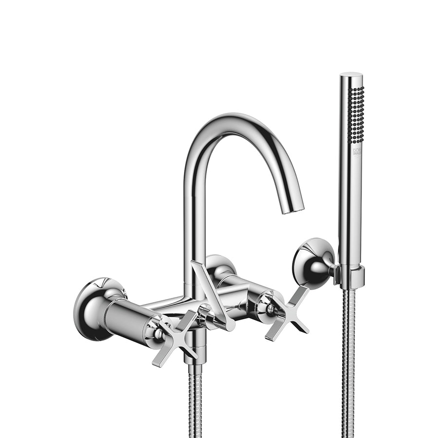 VAIA Wall-mounted Exposed Bath Mixer w/Handshower Set 25133809-00