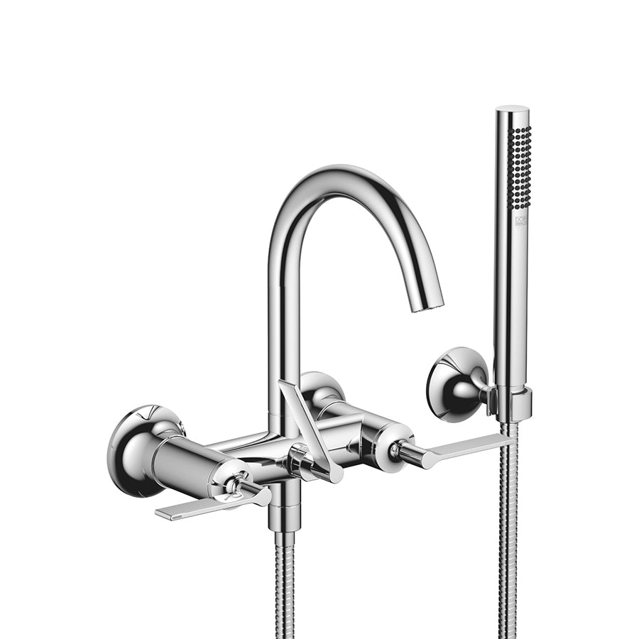 VAIA Wall-mounted Exposed Bath Mixer w/Handshower Set 25133819-00