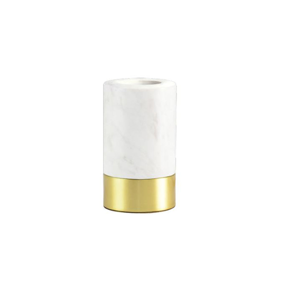 Madison Table Lamp Base in White Marble