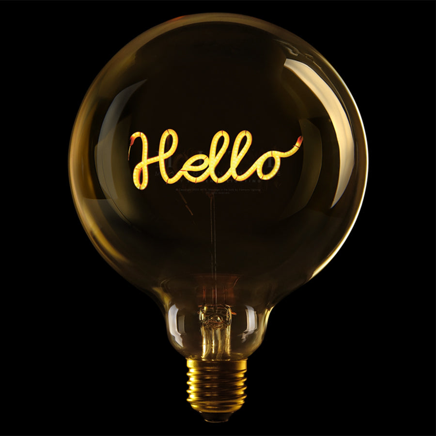 Message in the bulb, Hello in amber