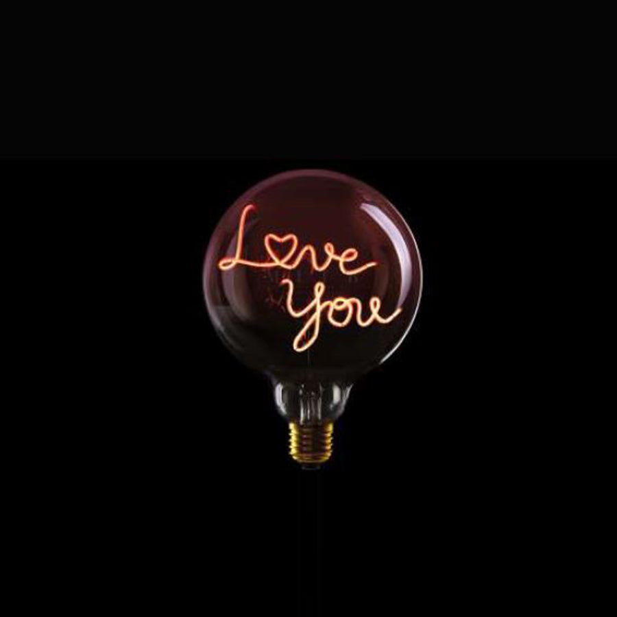 Message in the bulb, LOVE U in Pink