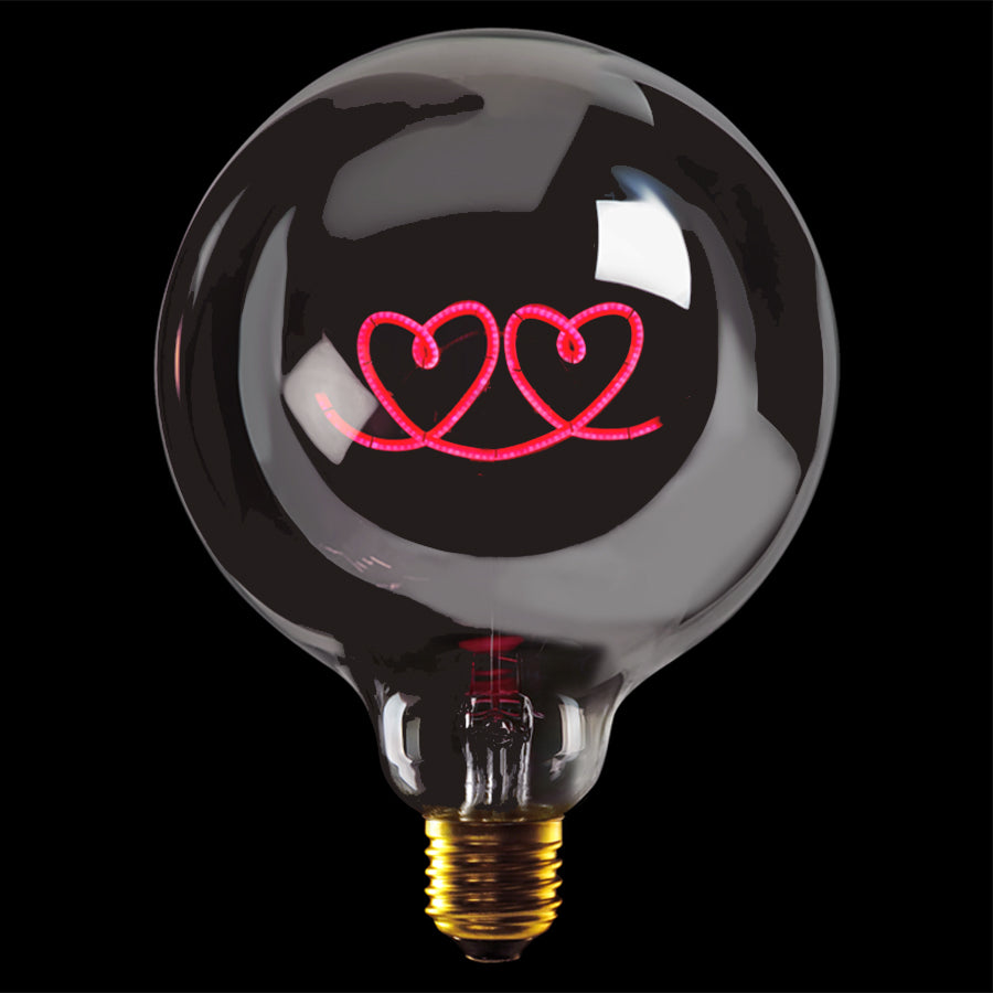 Message in the bulb, Double Heart in plated smoke
