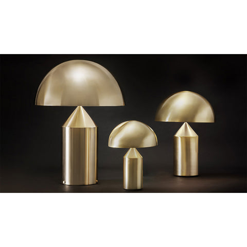 Atollo Metal Small Table Lamp in Satin Bronze