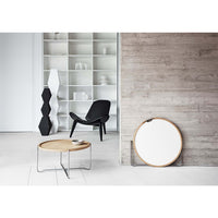 Carl Hansen & Son Shell CH07 Armchair, 920w x 830d x 740h mm, Frame Walnut Oil, Leather Sif 98
