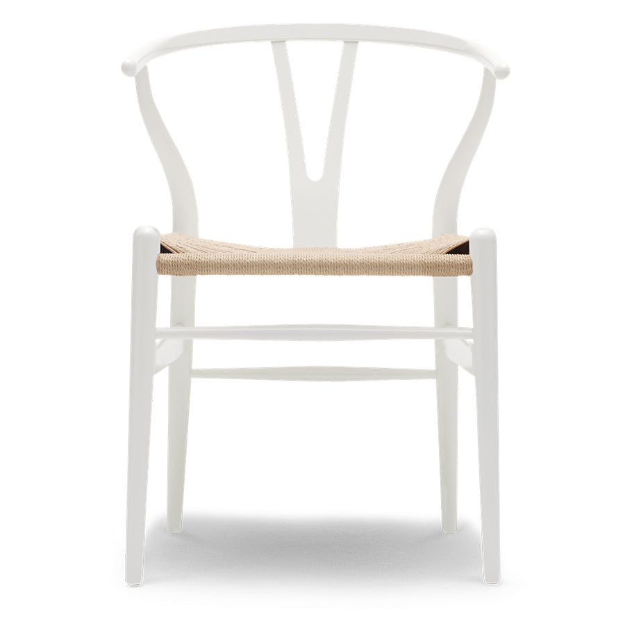 Carl Hansen & Son Wishbone CH24 Chair, 750w x 550d x 510h mm, Frame Glossy Navy Blue Beech, Seat Natural Paper Cord