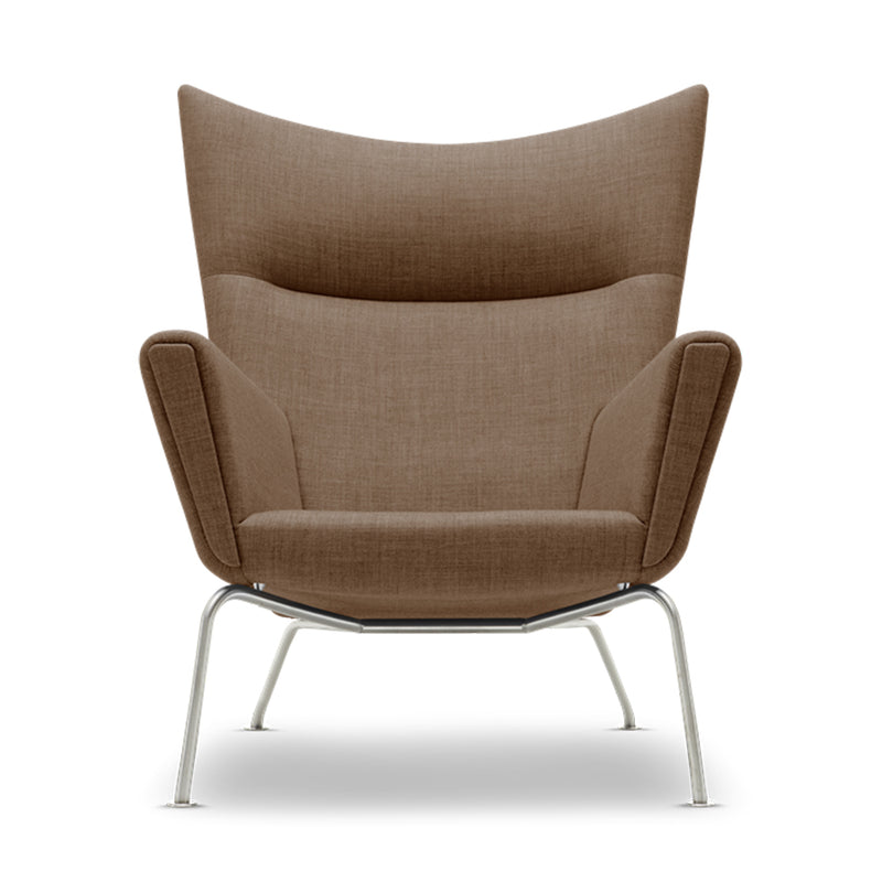 Carl Hansen & Son Wing CH445 Armchair, 900w x 900d x 1030h mm, Frame Stainless Steel, Fabric Remix 632