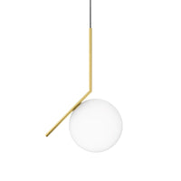 IC Lights Suspension 2 Suspension Lamp in Brushed Brass