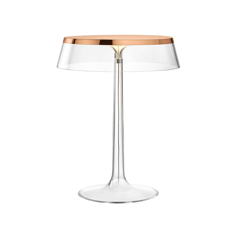 Bon Jour Table Lamp in Copper with Transparent