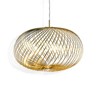 Spring Large Pendant Lamp in Brass