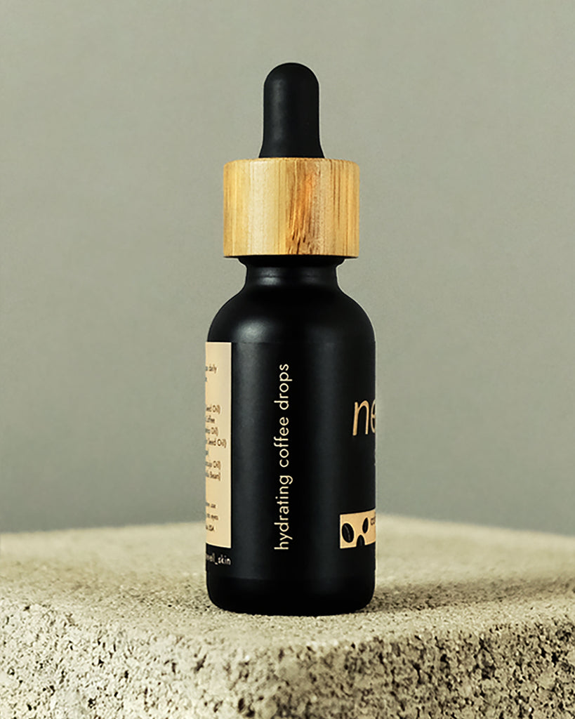 cold-pressed coffee infused beauty oil