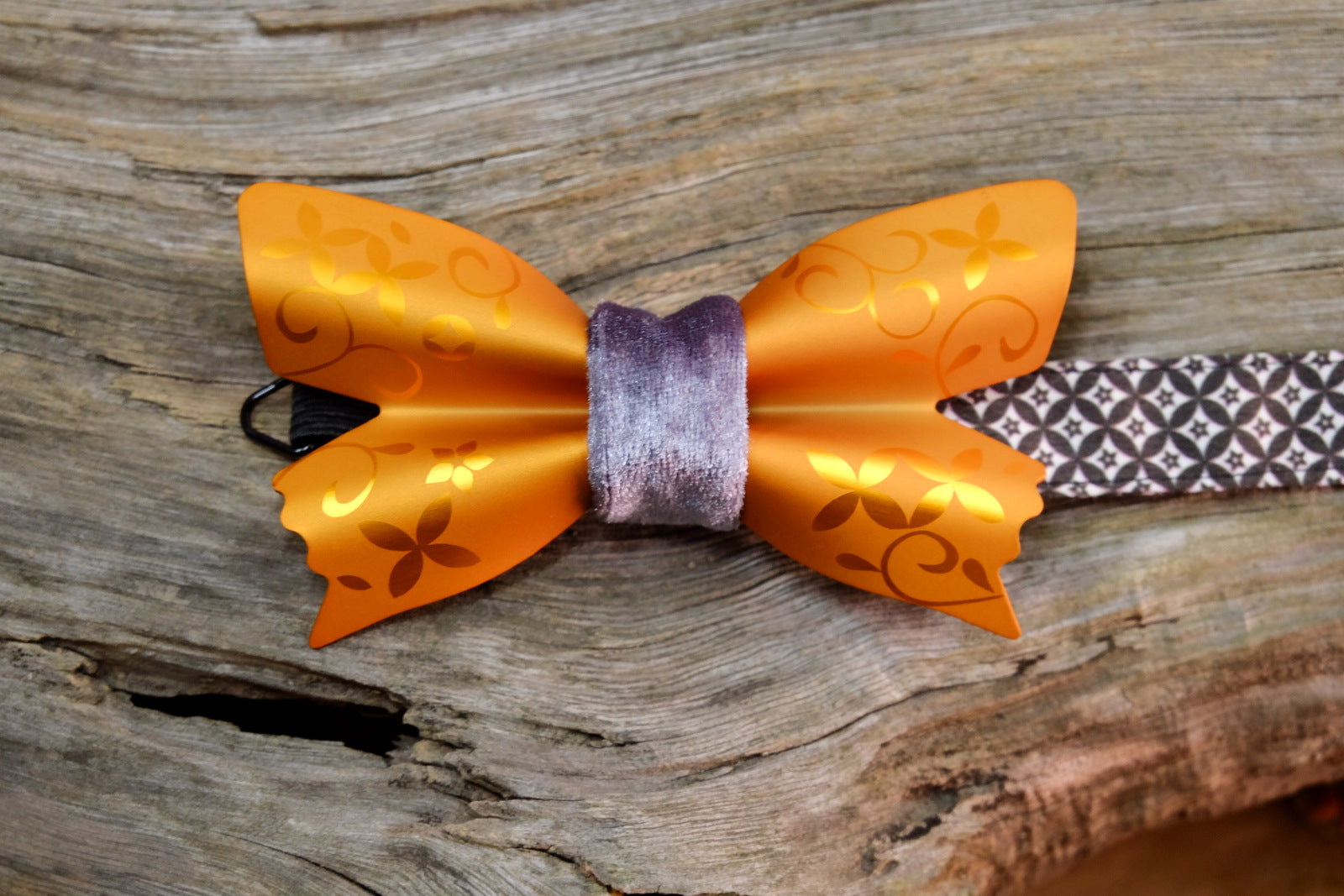 "Metal Butterfly ""Frosted"" ~Mandarin Orange~"