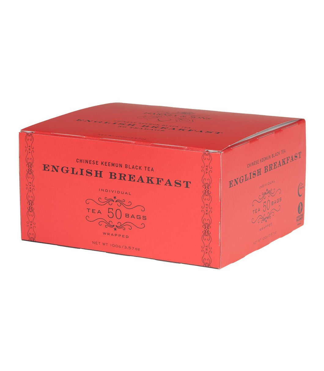 Harney & Sons - English Breakfast [Box of 50 foil-wrapped teabags]