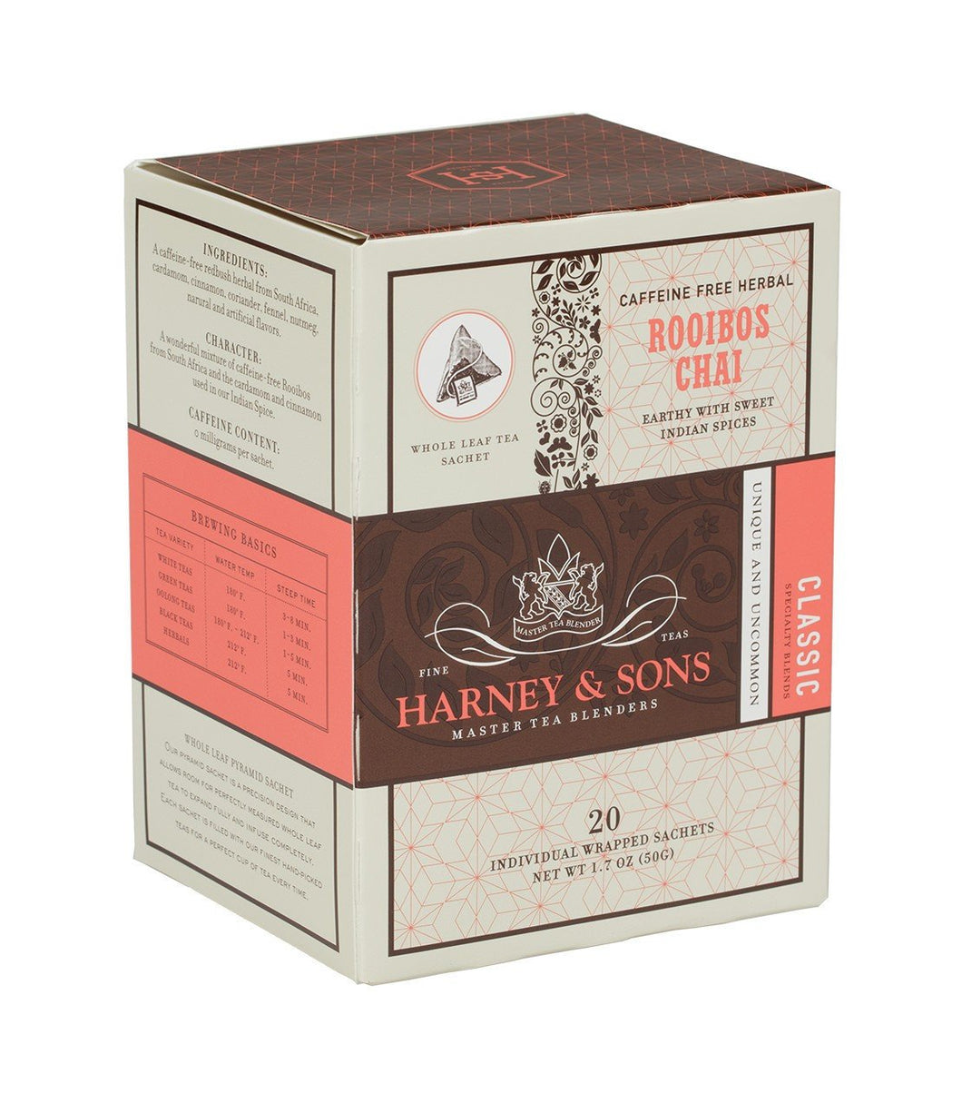 Harney & Sons - Rooibos Chai [20 individually wrapped sachets]