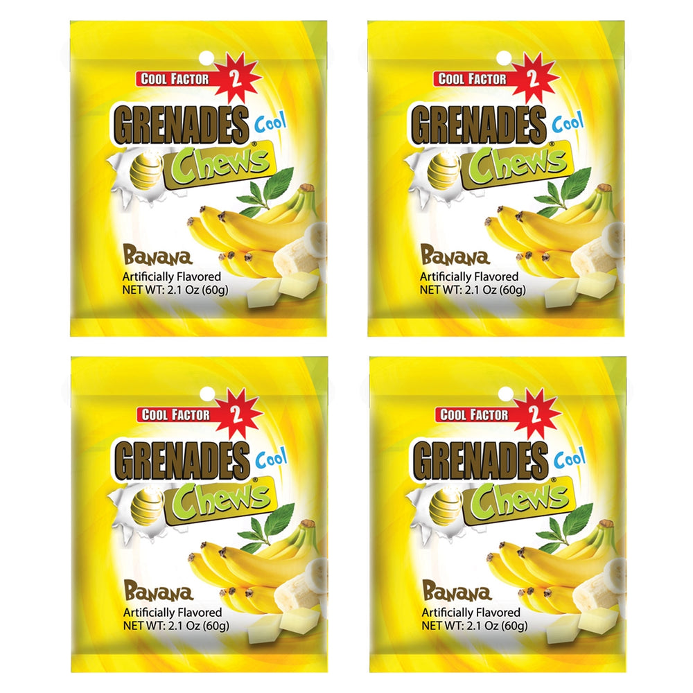 Grenades Chews - Banana - 4-PACK - 8.4 oz (48 pcs)