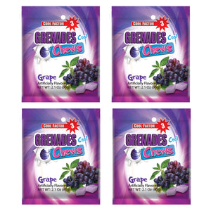 Grenades Chews - Grape - 4-PACK - 8.4 oz (48 pcs)