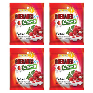 Load image into Gallery viewer, Grenades Chews - Lychee - 4-PACK - 8.4 oz (48 pcs)