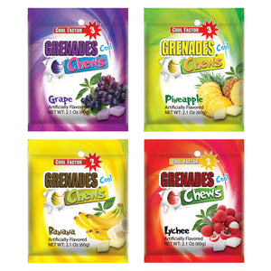 Load image into Gallery viewer, Grenades Chews - Assorted Flavors - 48 pcs