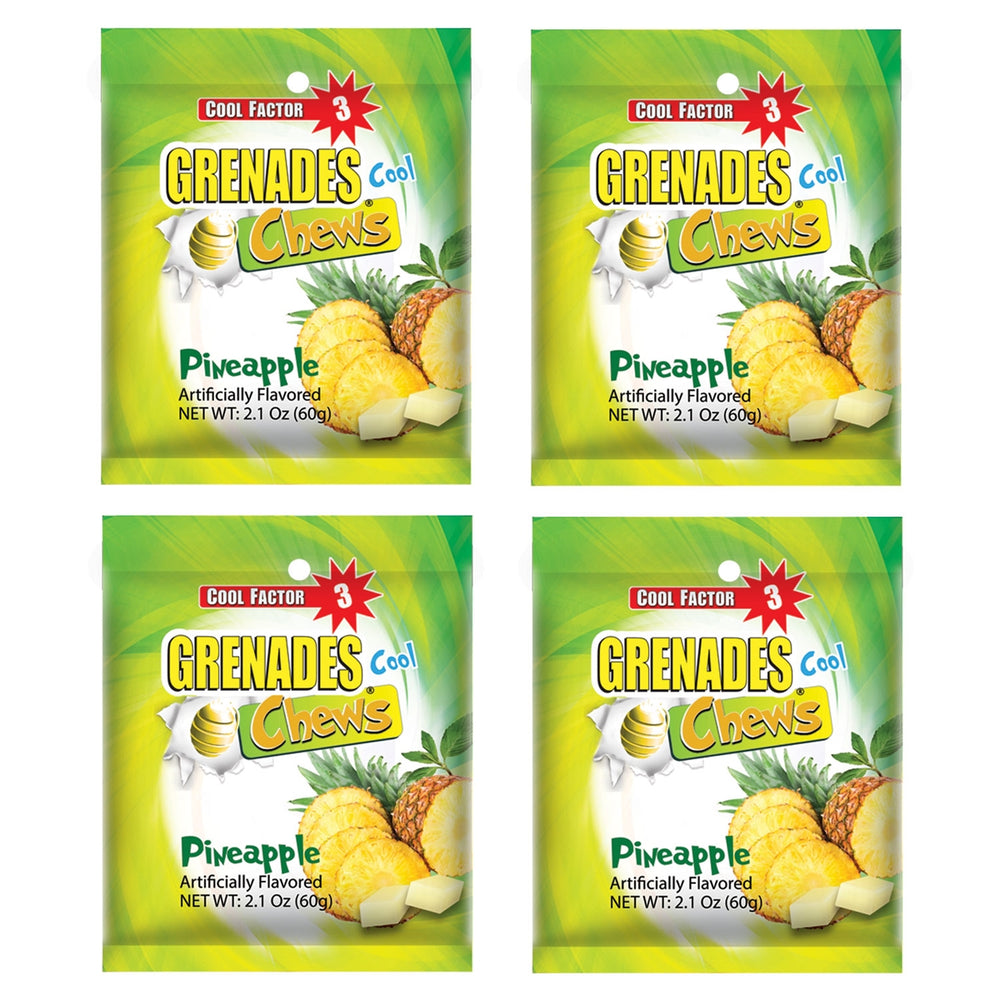 Grenades Chews - Pineapple - 4-PACK - 8.4 oz (48 pcs)