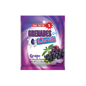Load image into Gallery viewer, Grenades Chews - Grape - 2.1 oz (12 pcs) Bag