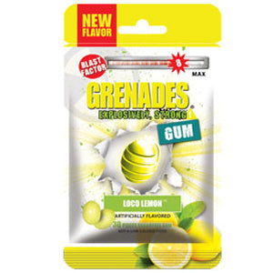Load image into Gallery viewer, Grenades Gum - Loco Lemon 30pcs