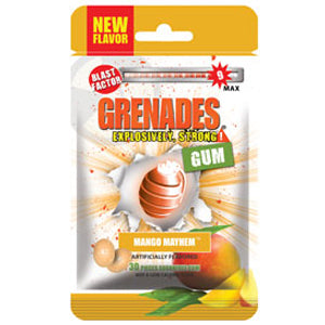 Load image into Gallery viewer, Grenades Gum - Mango Mayhem 30pcs
