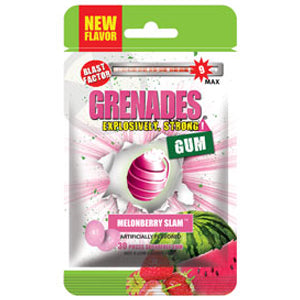 Load image into Gallery viewer, Grenades Gum - MelonBerry Slam 30pcs
