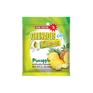 Grenades Chews - Pineapple - 2.1 oz (12 pcs) Bag