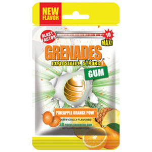 Grenades Gum - Pineapple Orange POW 30pcs