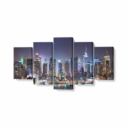 Tablou MultiCanvas 5 piese, NYC Times Square - canvasgift.ro