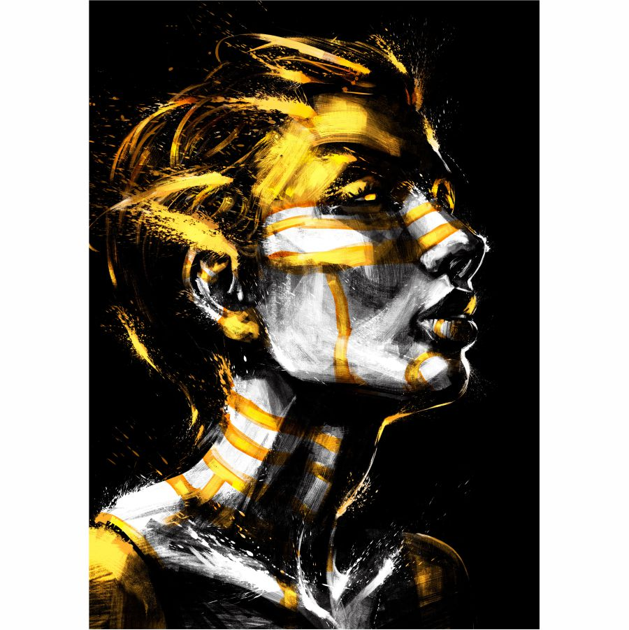 Tablou Canvas Gold Pattern on Face