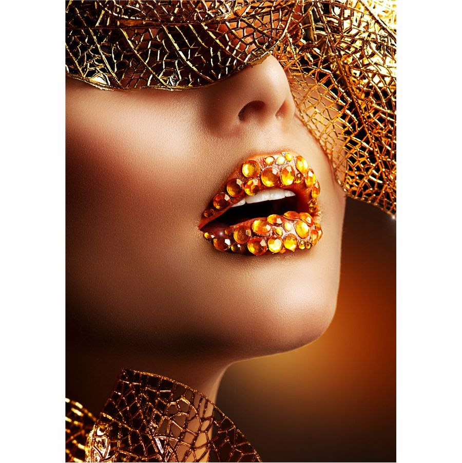 Tablou Canvas Luxury Golden Makeup