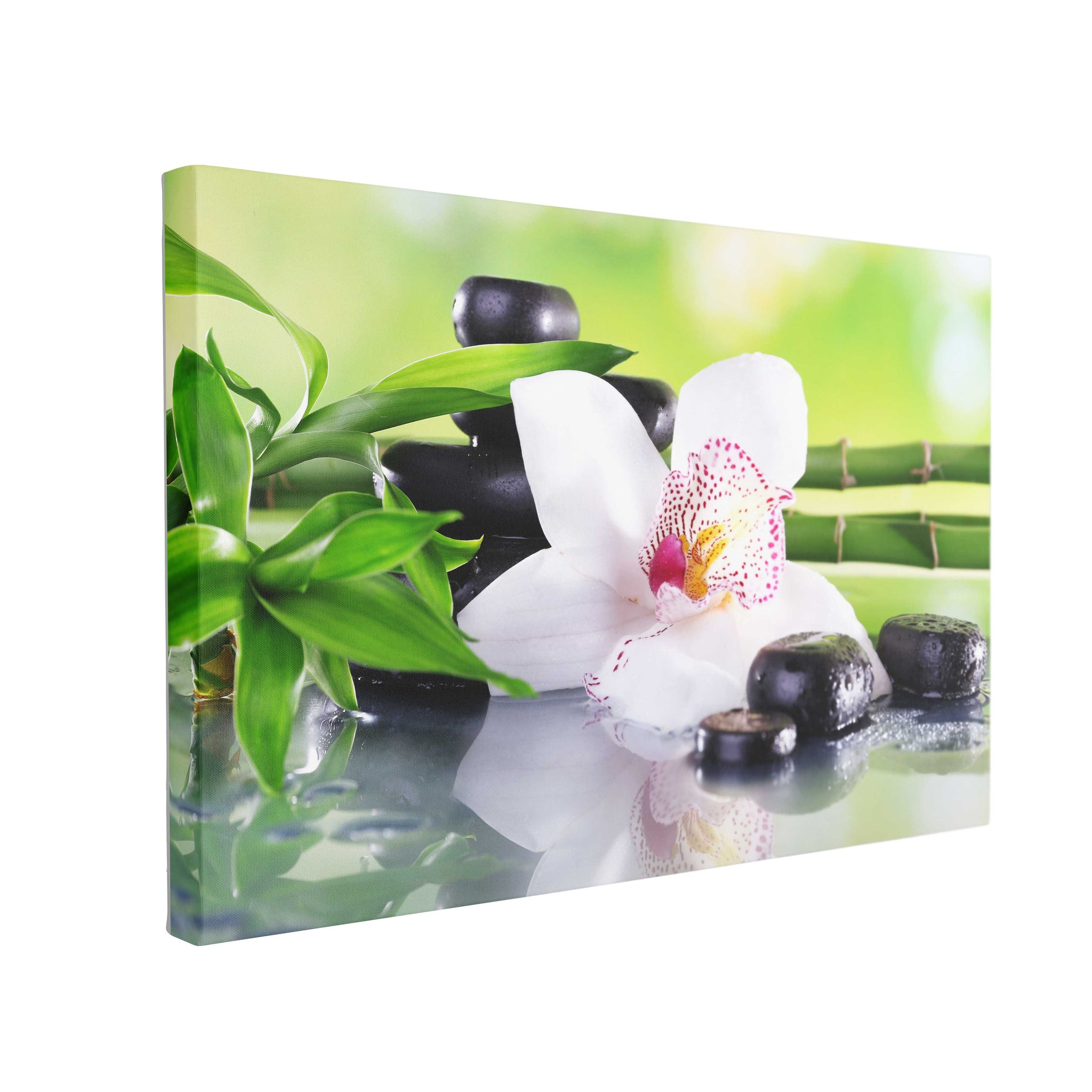 Tablou Canvas Spa Stones and White Orchid