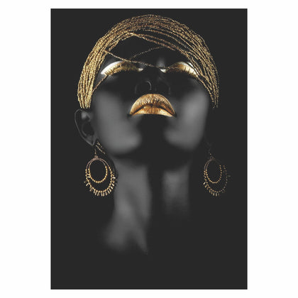 Tablou Canvas Golden Lips - canvasgift.ro