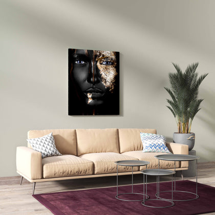 Tablou Canvas Gold Face
