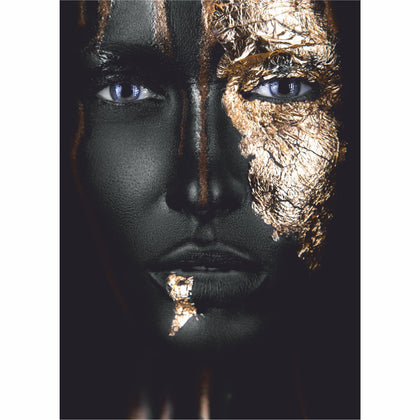Tablou Canvas Gold Face - canvasgift.ro