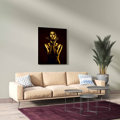 Tablou Canvas Gold Woman