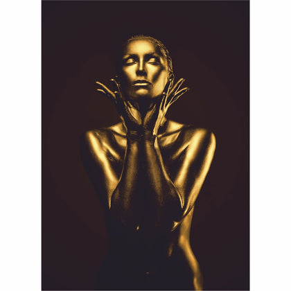 Tablou Canvas Gold Woman - canvasgift.ro
