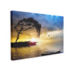Tablou Canvas Tree, Boat and Sea Painting