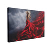 Tablou Canvas Woman in Red Dress Dance over Storm Sky