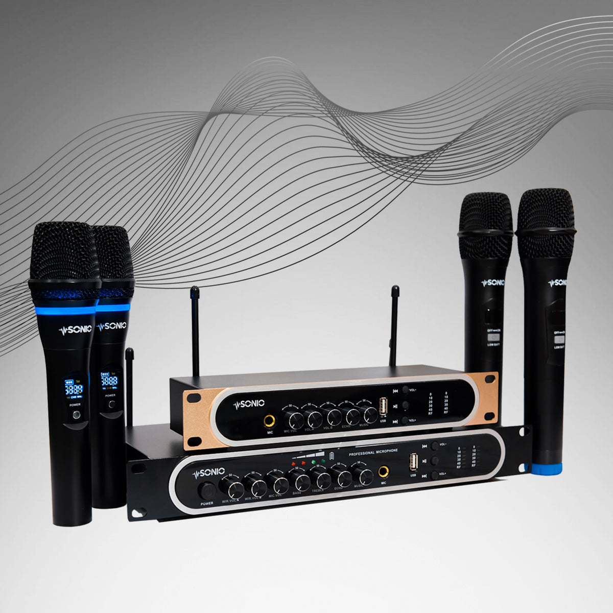 At SONIO, we know that the right gear can make a performance   We've developed our Wireless Microphone System to connect to your sound system. You can count on it to help you deliver your best vocal performance
