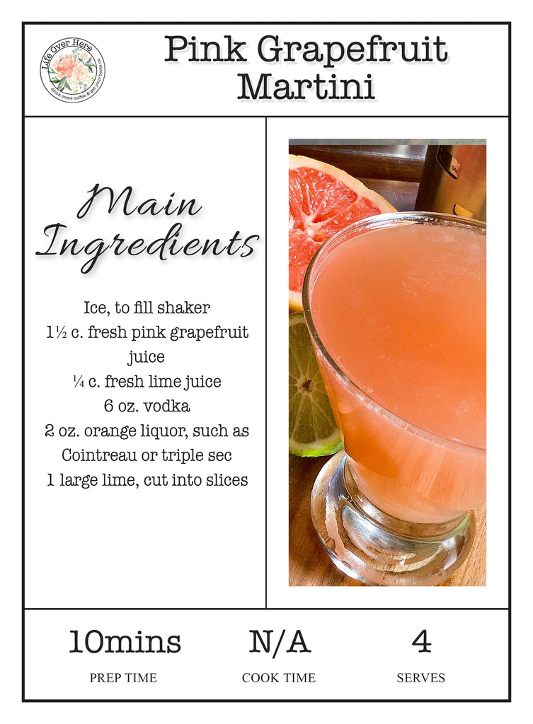 Pink Grapefruit Martini Recipe Ingredients
