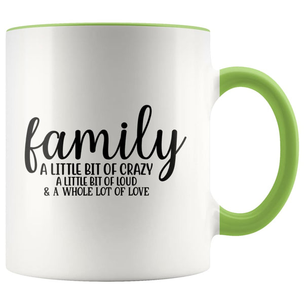 Family- A Little Bit Of Crazy Accent Mug - Green - Drinkware