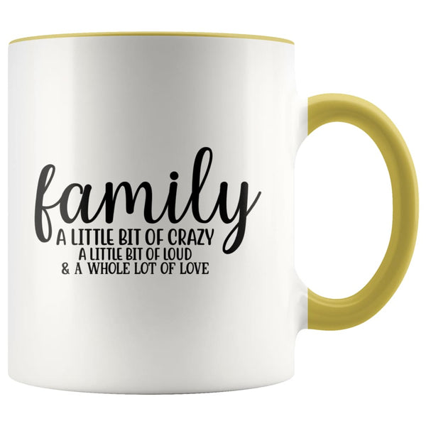 Family- A Little Bit Of Crazy Accent Mug - Yellow - Drinkware